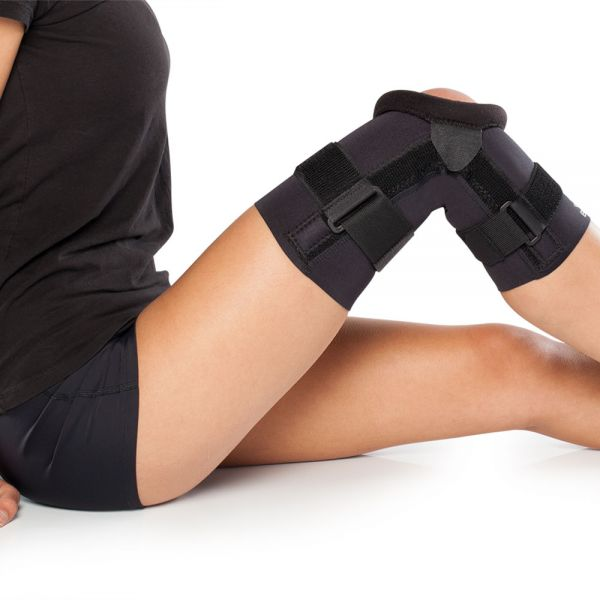 Knee brace for medial tracking patella disorder
